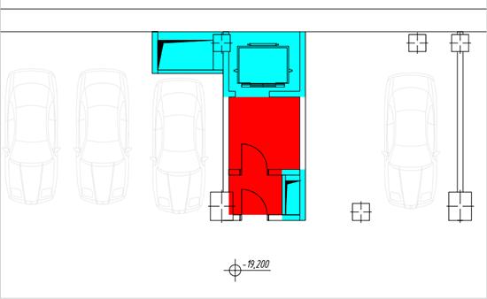 Фрагмент плана парковки по БОМА 1996