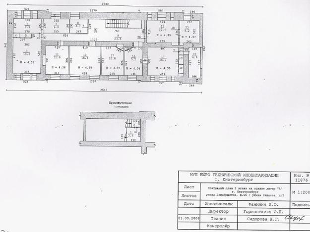 План БТИ исторического особняка