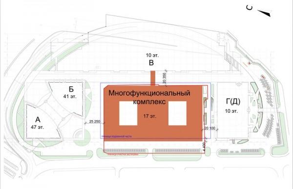 План размещения МФК на ул.Кульнева в Москве