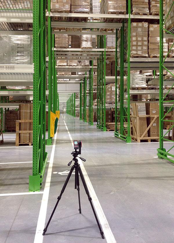Обмеры Склада Leica Disto S910