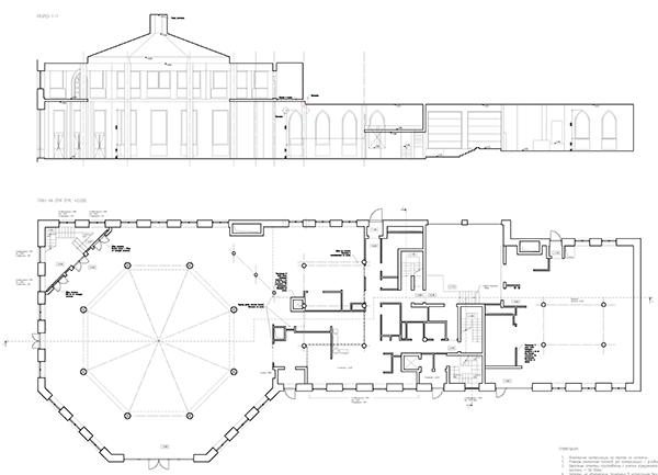 Чертежи Визит-Центра Царицыно