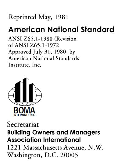 ANSI/BOMA Z65.1-1980